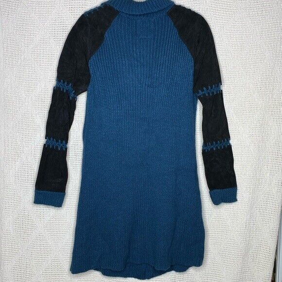 One Teaspoon Cardigan Sweater Suede Sleeves - image 5