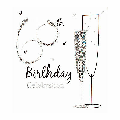 60th Birthday party invitation cards, Inc. envelopes. 6 Pack Simon Elvin Qlty