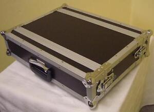 Effekt-Rack-kurz-2-HE-19-034-Flight-Case-24cm-tief-Double-Door-DJ-Case-Side-Rack