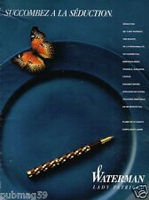 Publicité advertising 1989 Le Stylo plume Waterman Lady Patricia
