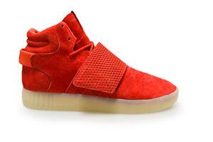 purchase cheap 9ec66 68150 La imagen se está cargando Hombre-Adidas-Tubular-INVADER-Correa-bb5039- Zapatillas-Rojas
