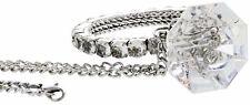 Diamond Ring Rear View Mirror Pendant Crystal Charm Ornament Car Accessories