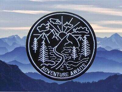 Mountain Logo Outdoor Embroidered Iron On Patch