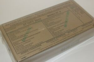 MRE French Military Food Ration Combat Daily Pack RCIR
