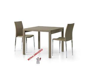 Tavolo Da Pranzo Quadrato Allungabile.Dettagli Su Tables Chairs Tavolo Da Pranzo Grigio Tortora Quadrato Allungabile Cucina 664