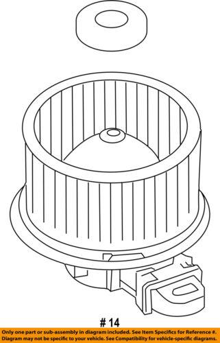 FORD OEM-Blower Motor AE9Z19805B