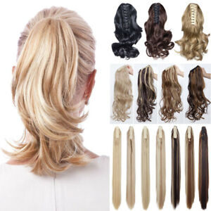 12-039-039-Short-Wavy-Claw-Jaw-Clip-In-On-Hairpiece-Ponytail-Hair-Extension-Blonde-fya