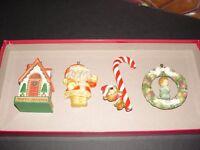 Lot of 4 - 1970s era - early - Hallmark Christmas ornaments - no boxes