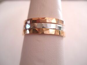 2-MM-Hammered-10-K-amp-14-K-Solid-Gold-Band-or-Stacking-Ring-Handmade-in-U-S