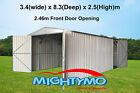 Garden Shed 3.4x8.3M Storage, Workshop, Garage, Large steel sheds, Site sheds