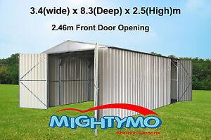 Workshop-Shed-3-4x8-3M-Storage-Garage-Large-steel-sheds-Garden-sheds