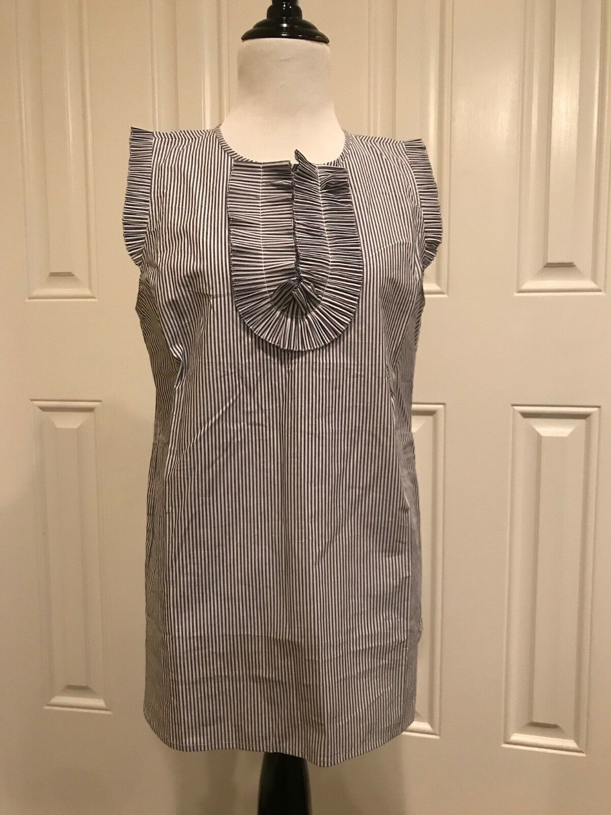 J.Crew bluee White Striped Sleeveless Top 6T NWT
