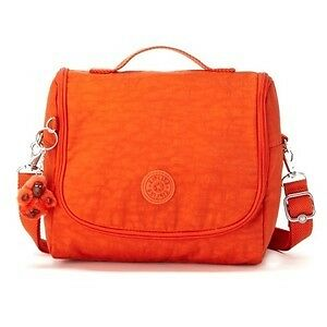 NEW-KIPLING-KICHIROU-LUMINOUS-ORANGE-LUNCH-BAG-SLING-CROSSBODY-PURSE-AC7254-SALE