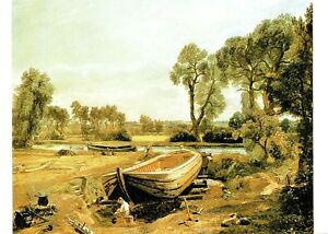 10850) Postcard - Constable - Boat Building near Flatford Mill about ...