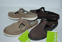 NEW NWT CROCS WALU MULE WOMEN SLIP ON CANVAS 6 7 8 9 10 KHAKI ESPRESSO BROWN