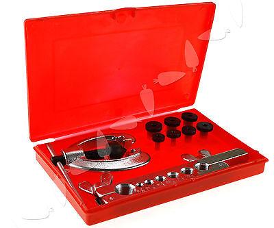 9pcs Plumbing Pipe Tubing Flaring Tool Set Brake Pipe 3/16-5/8
