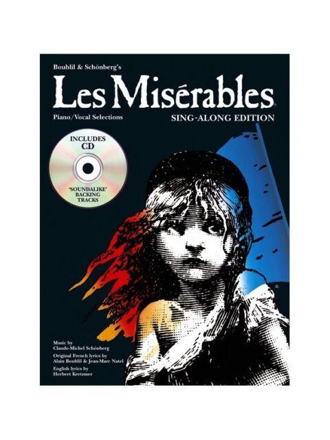 Les Misérables - Sing-Along Edition, Piano/Vocal Selections (Book & CD)