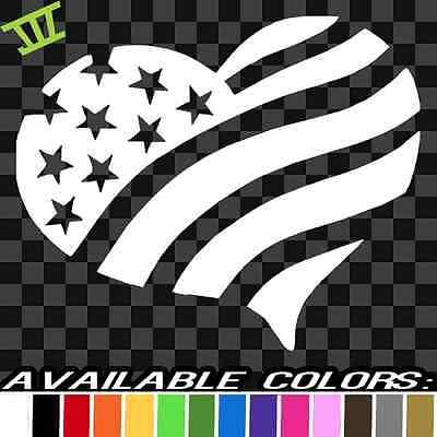 USA Flag Heart Bumper Sticker Car Decal Gift Patriotic American Truck RV Wall