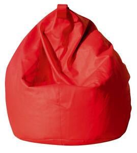 Poltrona Sacco Tartuga.Dettagli Su Fodera Poltrona Sacco Pouf Pouff Puff Beanbags In Ecopelle Rosso