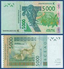 WEST AFRICAN STATES / SENEGAL 5000 Francs 2003 UNC  P. 717K