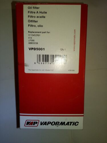 Leyland Manitou Perkins Filtro de aceite VPD5001 Massey Ferguson Case IH JCB