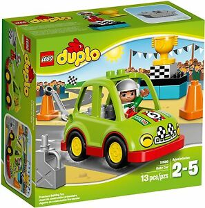 Bnib Lego Duplo 10589 Rally Car Racer Racing Car Driver Grand Prix