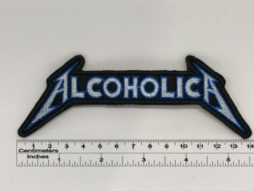 """5,5/"""" x 2/"""" Alcoholica patch 14cm x 5cm"""