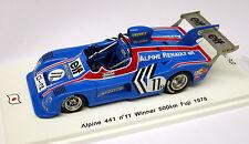Spark 1/43 Alpine 441 #11 Winner Fuji 500km 1978 SJ009 Special Run Japan