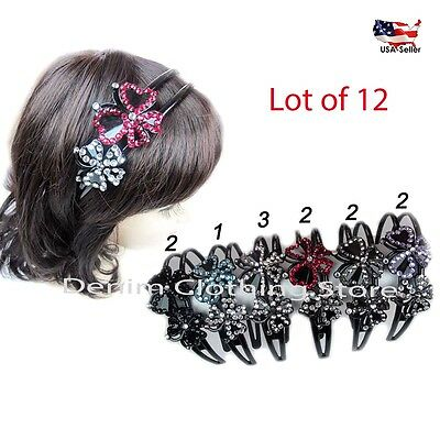 12pcs Women Girl Rhinestone Headband Hair Band Wrap Hoop Hairpin Accessory Lots