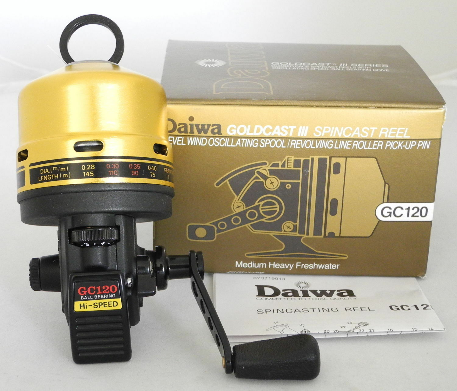 Daiwa goldCast III 4.1 1 Spincast Left Right Hand Fishing Reel - GC120