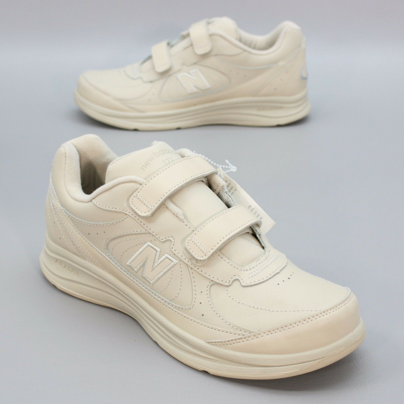 NEW - New Balance 577 Ladies 11 B Hook & Loop Walking DSL-2 Bone Leather Sneaker