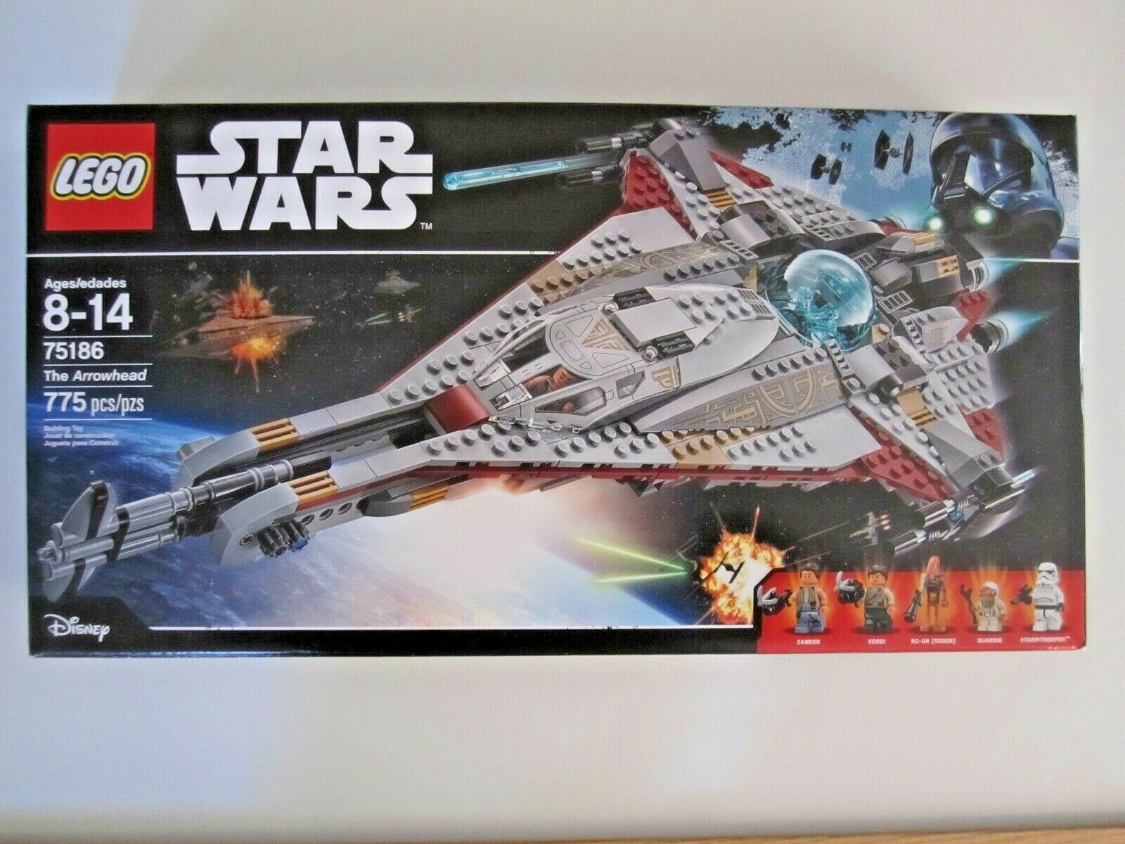 75186 LEGO Star Wars The Arrowhead  775 Pieces 5 Mini Figures New Sealed  In Box