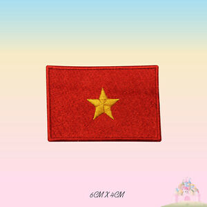 Vietnam National Flag Embroidered Iron On Patch Sew On Badge