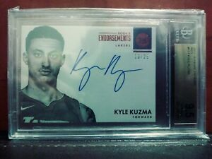 2017-Panini-Encased-Endorsement-Kyle-Kuzma-Rookie-auto-13-25-BGS-9-5-10