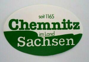 Bumper Stickers Chemnitz Since 1165 Saxony Erzgebirge Karl-Marx-Stadt 90er