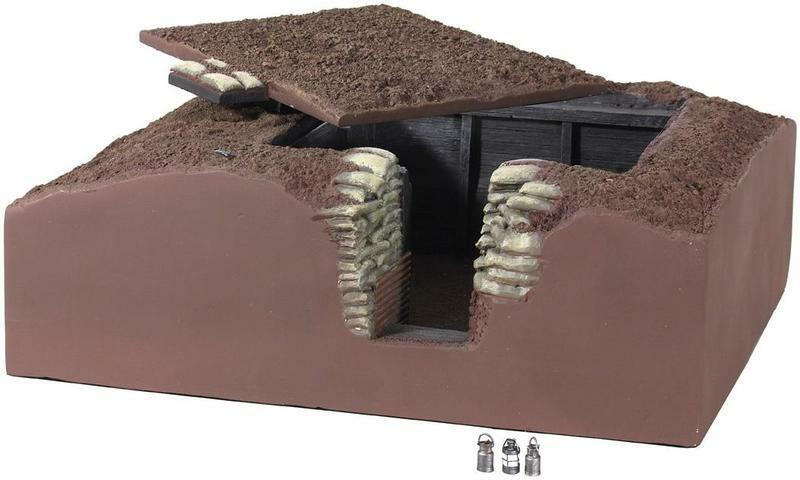BRITAINS DIORAMA ACCESSORIES 51016 TRENCH SECTION REGIMENTAL AID STATION MIB
