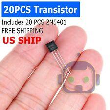 20 Pcs X 2n5401 To 92 Transistor Electronic Chip Triode Three Pins Pack Set Lot