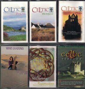 Lot-of-6-Celtic-Music-Audio-Cassette-Tapes-Celtic-Psalms-Praise-Worship