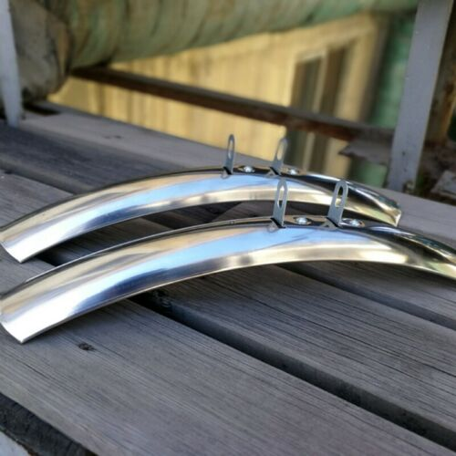 1Pair Nice Road Bike Mudguard 700c 27/'/' Bicycle Cycling Front Rear Fender Silver
