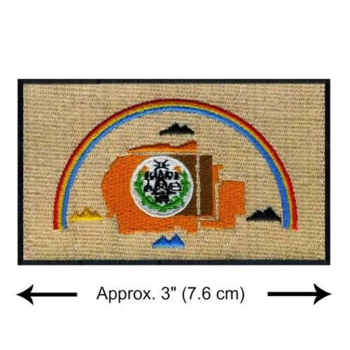 """NAVAJO NATION FLAG IRON ON PATCH 3/"""" Embroidered Applique Native American Pride"""