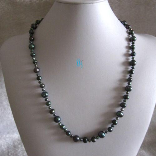 """24/"""" 4-10 mm d/'eau douce collier de perles Strand bijoux —— plus couleurs"""