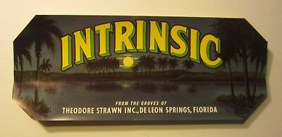 DeLeon Springs,FL-Grown in Old Volusia Fruit Label-Theodore Strawn Inc-Volusia