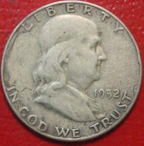 1952-S-Franklin-Half-Dollar-Circulated-90-Silver-US-Coin