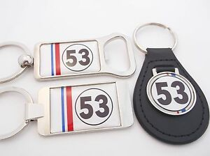 HERBIE 53 BEETLE VW LOVE BUG KEY FOB KEYFOB KEYRING BOTTLE OPENER ... 422e841f32