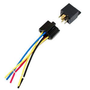 10pk 12 VOLT 30//40 AMP BOSCH//TYCO STYLE SPDT AUTOMOTIVE RELAY HARNESS SOCKETS