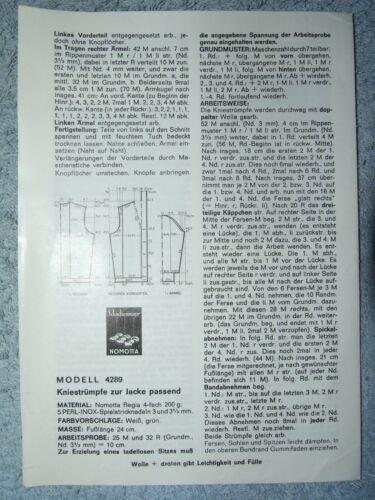 Schachenmayr Nomotta lana cuerda guía vintage patrones de punto 60//70er años