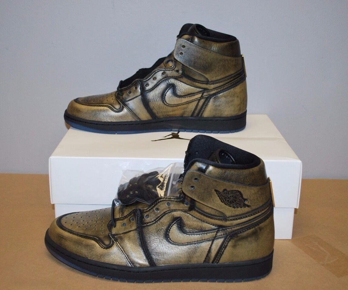 Nike Air Jordan Retro 1 OG Wings Black Metallic gold AA2887-035 Men's  Sz. 11.5