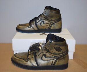 best service 42ecd b76b4 Image is loading Nike-Air-Jordan-Retro-1-OG-Wings-Black-