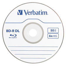 10 pack VERBATIM 6X Blu-Ray BD-R DL Dual Layer 50GB Branded Logo in Paper Sleeve