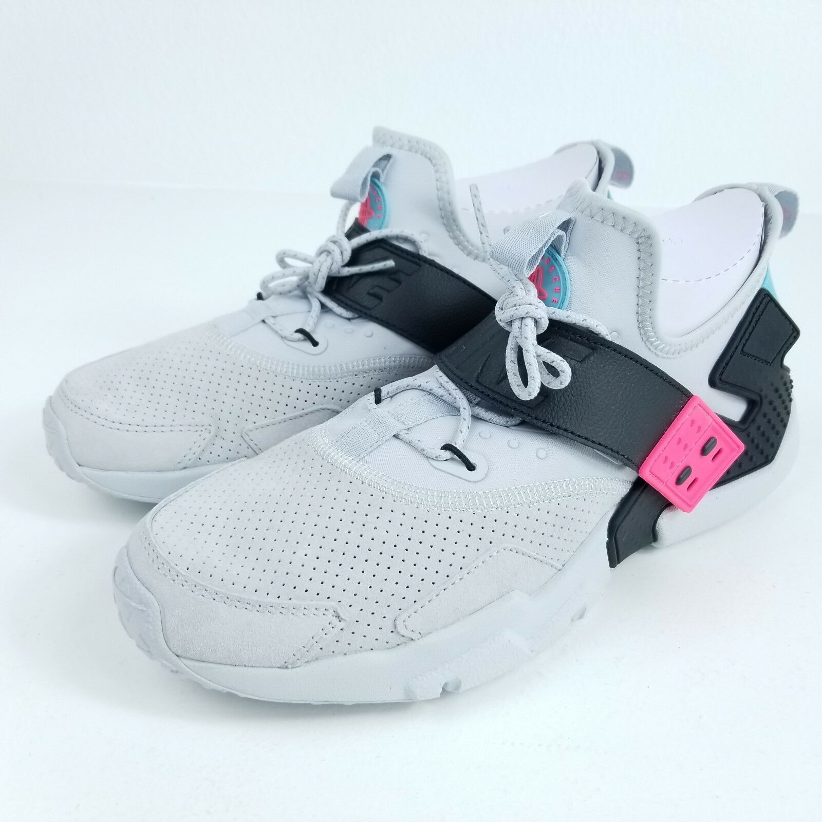 Great discount NIKE Air Huarache Drift Premium PRM Mens Sz 11.5 Shoes White Pink AH7335 003